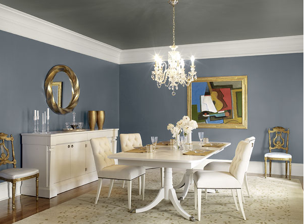 Benjamin Moore Blue Gray Paint Dining Room