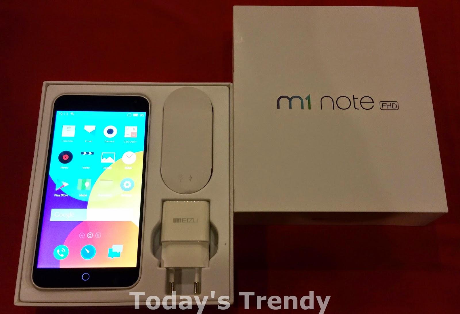 Meizu M1 Note box contents
