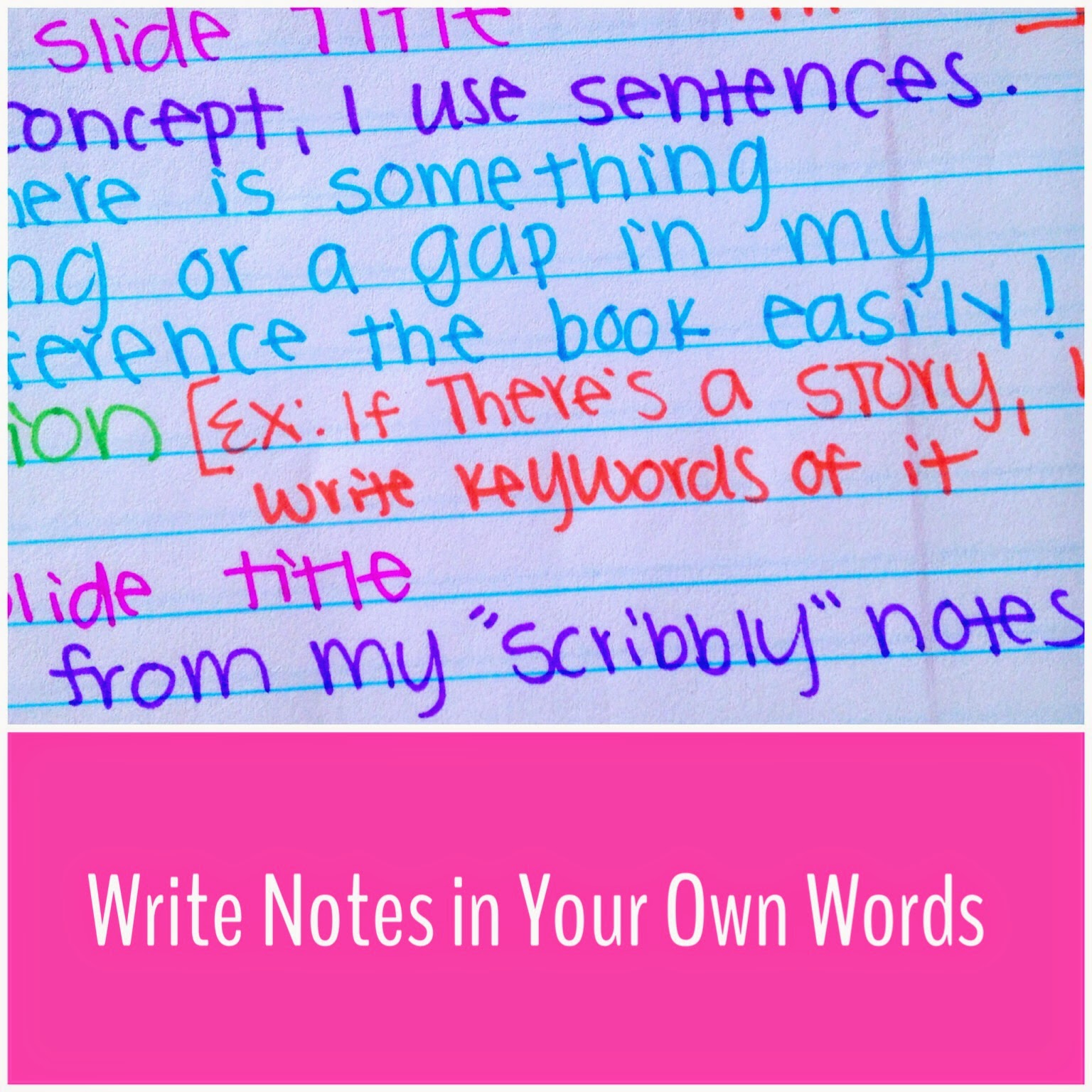 Write in your own words