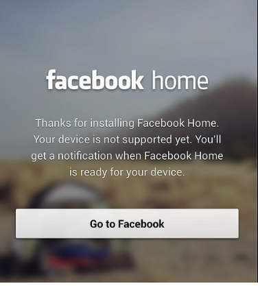 Facebook Home Feature