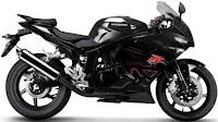 2012 Hyosung GT250R black color