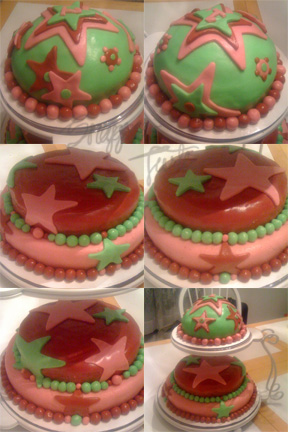 StarCakeFinished Make a Fondant Birthday Cake