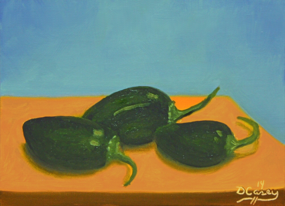 141123 - Garden Peppers 001a 5x7 oil on linen panel - Dave Casey - TheDailyPainter.jpg