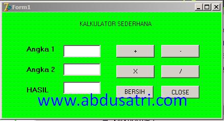 cara membuat kalkulator dengan delphi