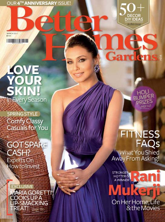 Rani mukherjee in Purple Dress1 - Rani mukherjee on cover of Better Homes Magazine in Purple Dress