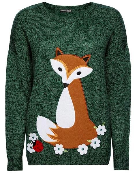 Primark online: jersey con zorro en color verde para mujer