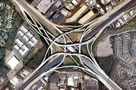 jalan layang, model jalan layang, persimpangan, karya insinyur jalan raya, arsitek jalan