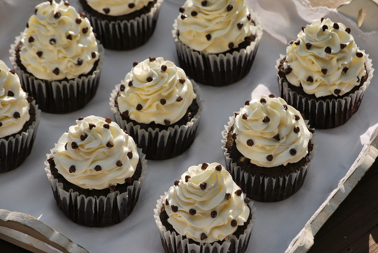 My story in recipes: Cream Cheese Stuffed Cupcakes