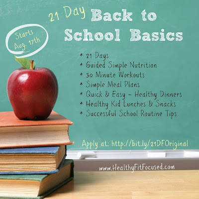 21 Days of Back to School Basics - Back into the Routine!, 21 Day Fix, Julie Little
