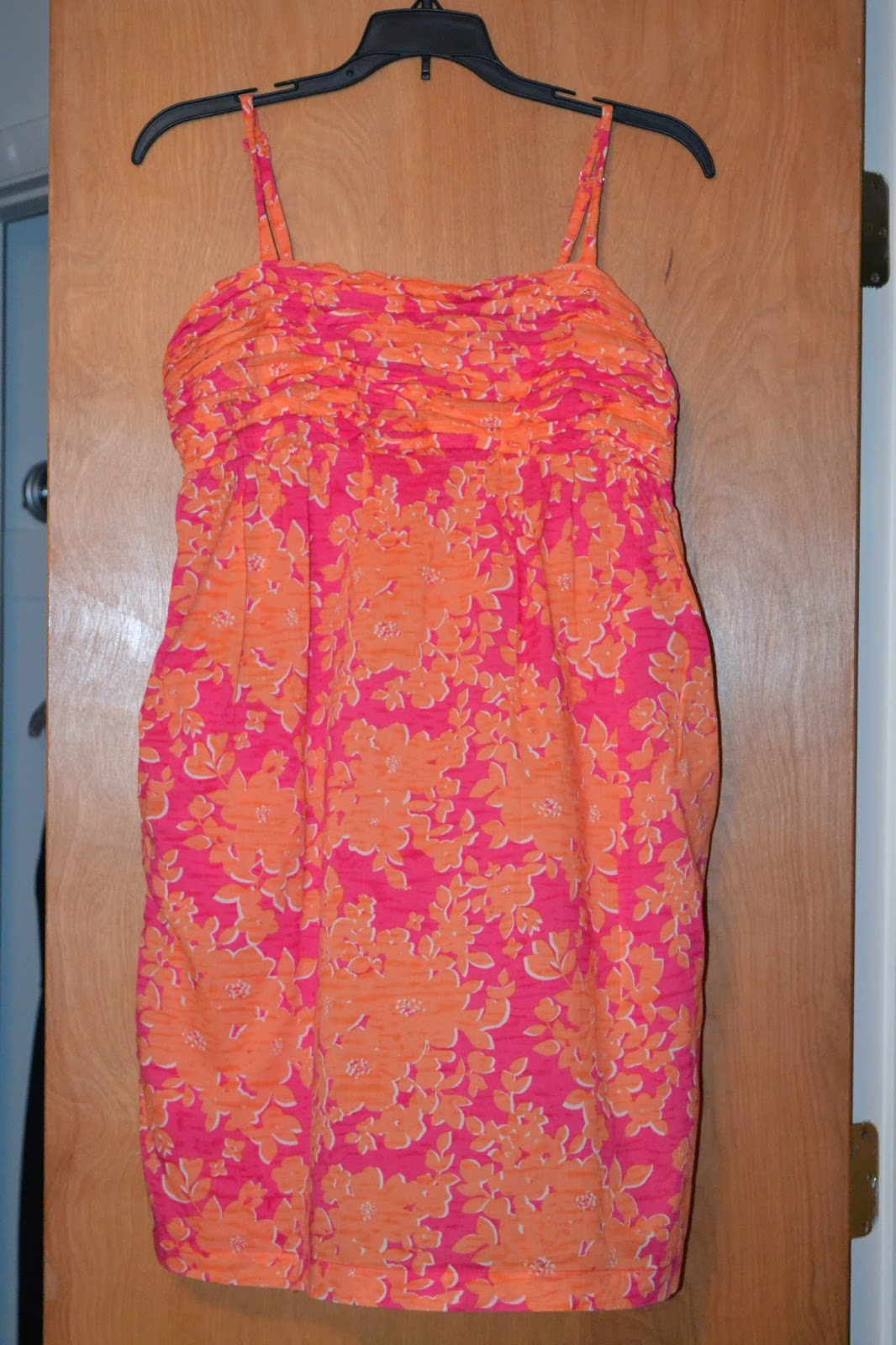 Thred up Pink and Orange Dress