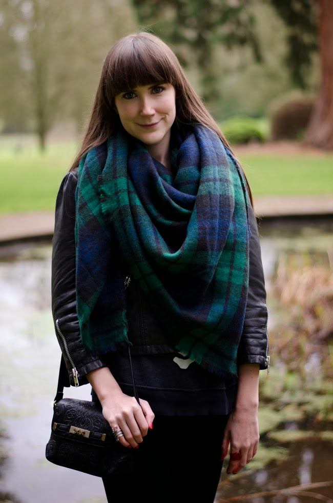 Oversized Tartan Scarf from Zara.