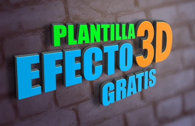 plantilla efecto 3d