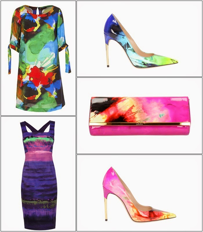 Karen Miller e Globe - Arty Vestido , tunica, sapatos, ponchete