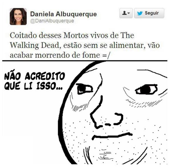 Daniela Albuquerque no twitter tinha é que dar nisso mesmo, depois dessa ja chega de internet por hoje
