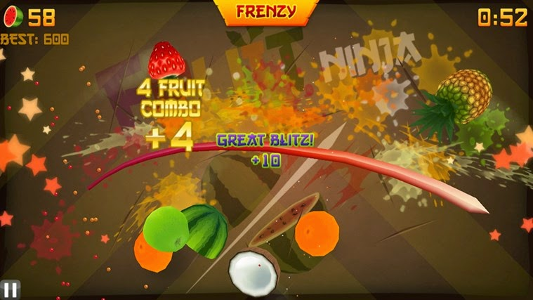 Facebook Fruit Ninja Oyunu 2015
