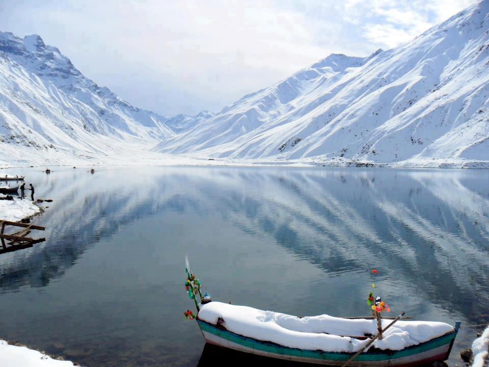 Lake Saif ul Malook Winter View