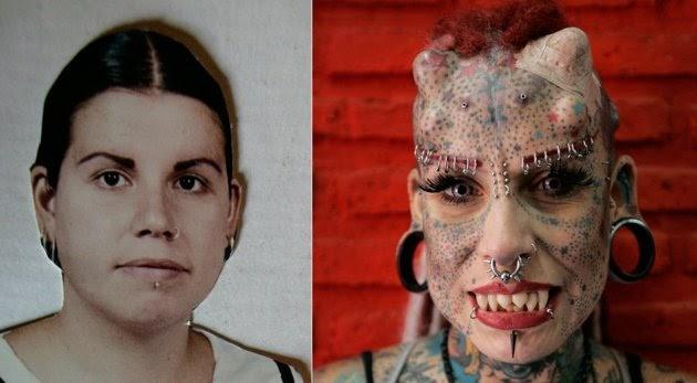 Quiere parecerse al diablo, se tatuó todo el cuerpo y se