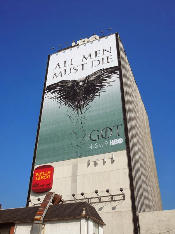 Giant All men must die Game of Thrones season 4 billboard