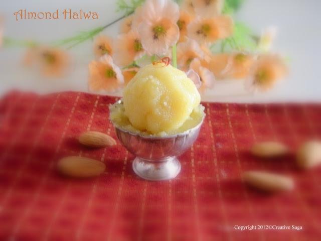 Badaam/almond halwa