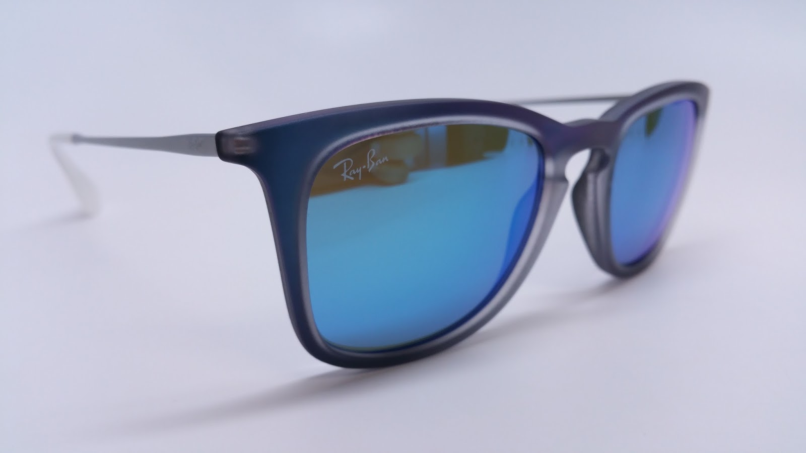 6e43dab91a Ray-Ban RB 4221 6170 55 Shot Blue Rubber Sunglasses
