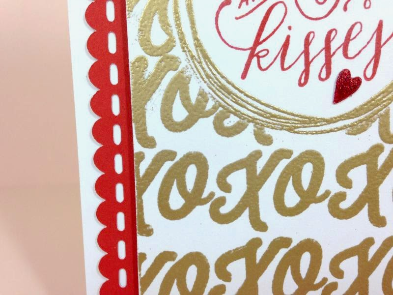 Artfully Sent Gold Embossed card closeup