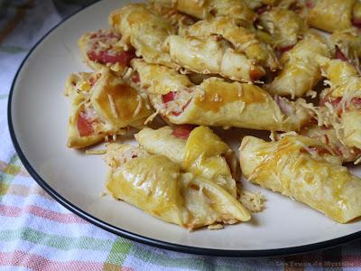 Mini-croissants parisiens au jambon et au fromage (voir la recette)