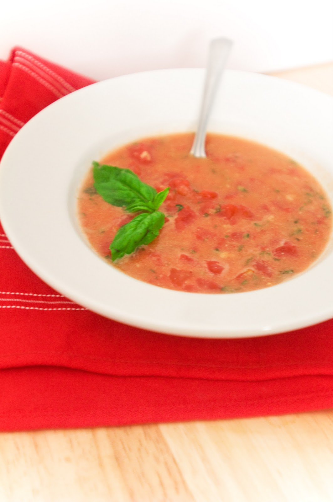 creamy tomato soup with fresh basil is one of my very favorite things ...