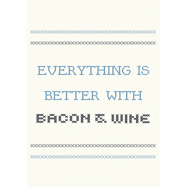 bacon and wine free printable