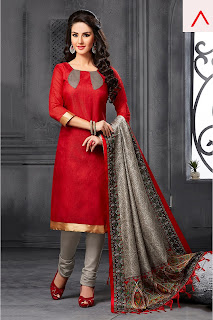 red color salwar kameez