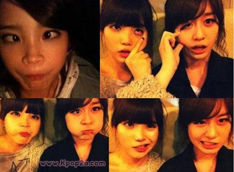 IU เพื่อนเลิฟแอบแช๊ะภาพ Jiyeon(T-ara) หลับปุ๋ยในห้องของเธอ
