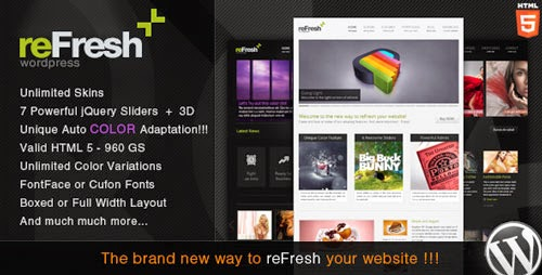 reFresh Powerful Clean & Elegant WordPress Theme Version 2.2 free