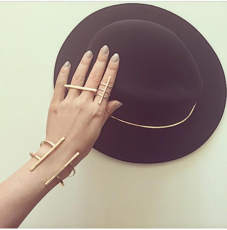 Janessa Leone stephen hat, hat, accessories, rings, bracelet