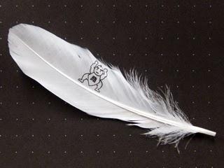 助太力くんを印刷した羽根の写真