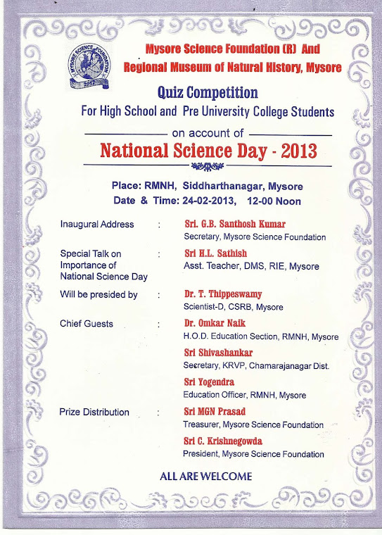 NATIONAL SCIENCE DAY-2013