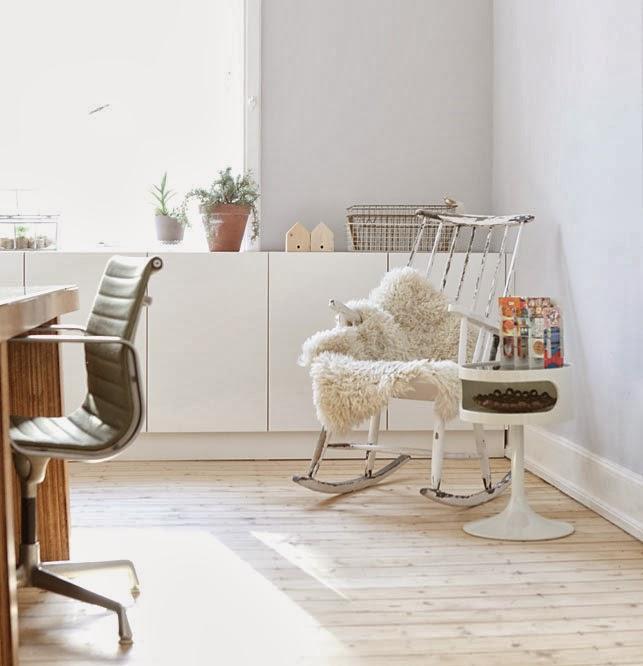 Un pequeño estudio de estilo escandinavo