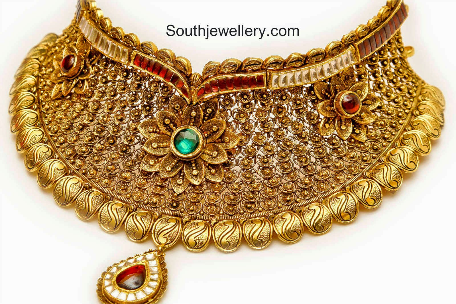 antique gold chokers