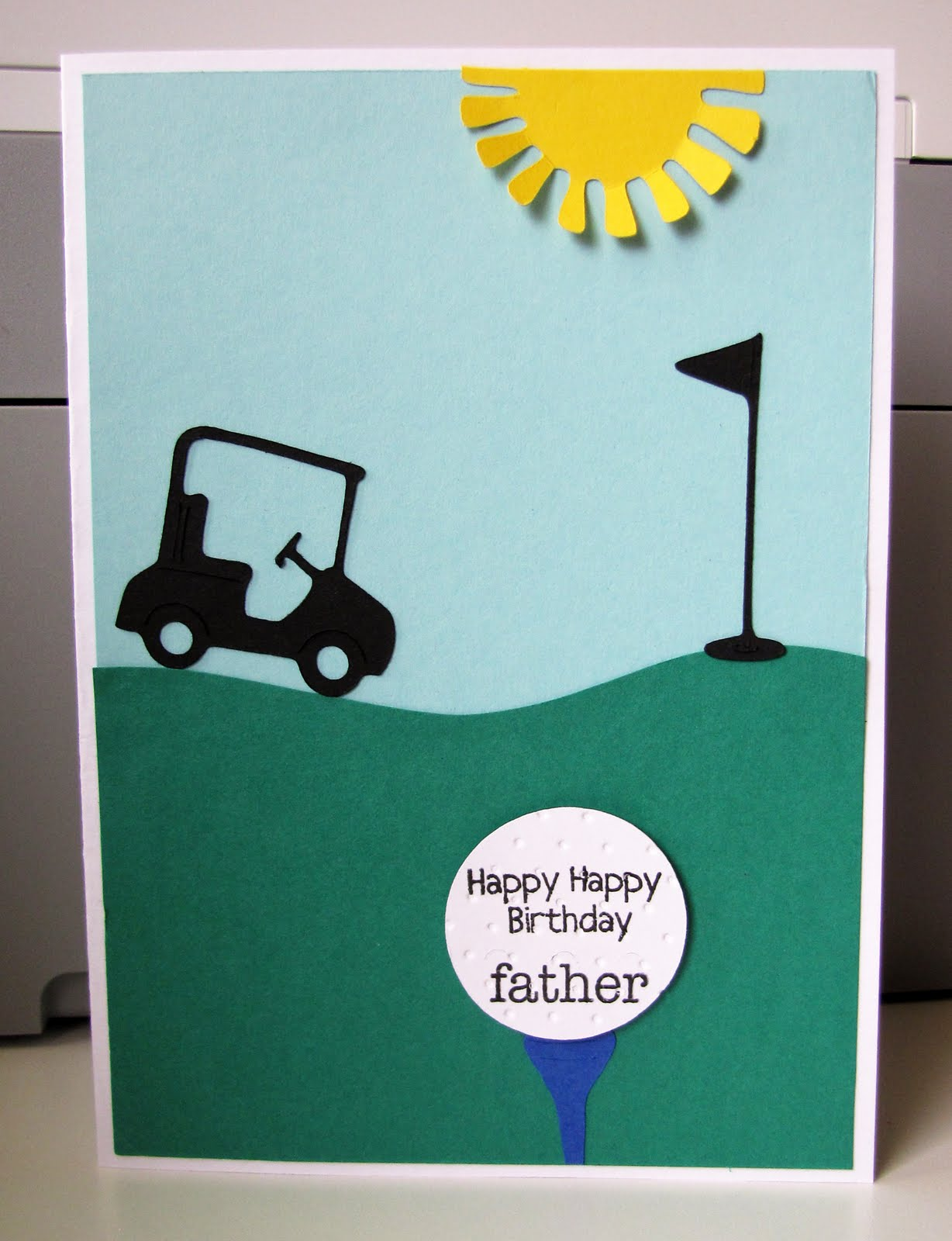 Jens Happy Place Golfers Birthday Card For My Dad