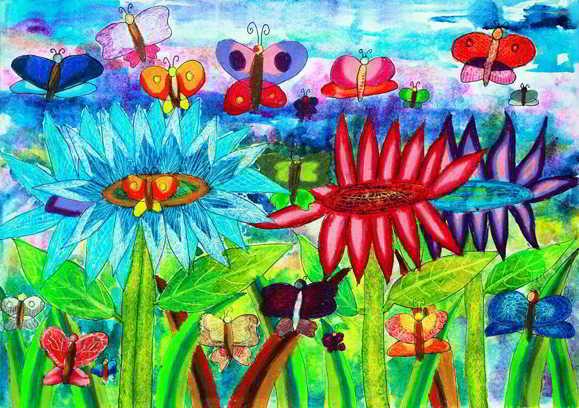 Karya Lukisan Anak Raih Juara Lomba Tingkat Dunia