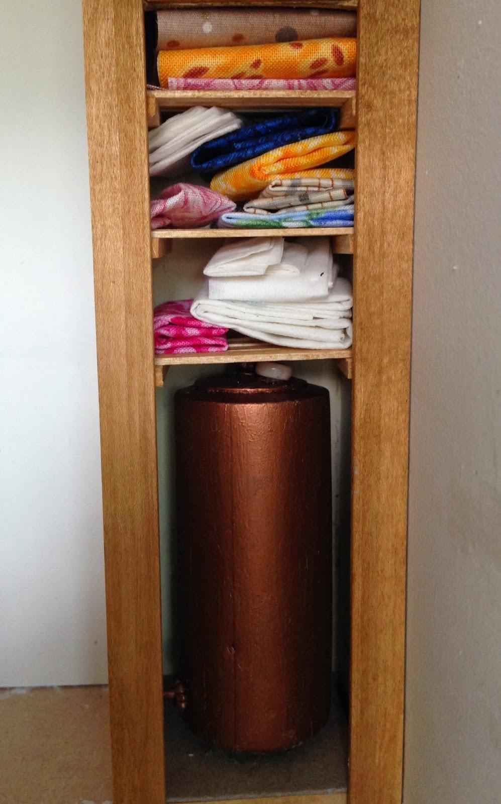 MOUNTFIELD DOLLSHOUSE Airing cupboard and tank in situ