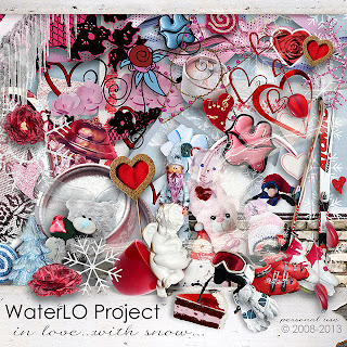 "Free scrapbook kit ""In Love"" from WaterLo Project"