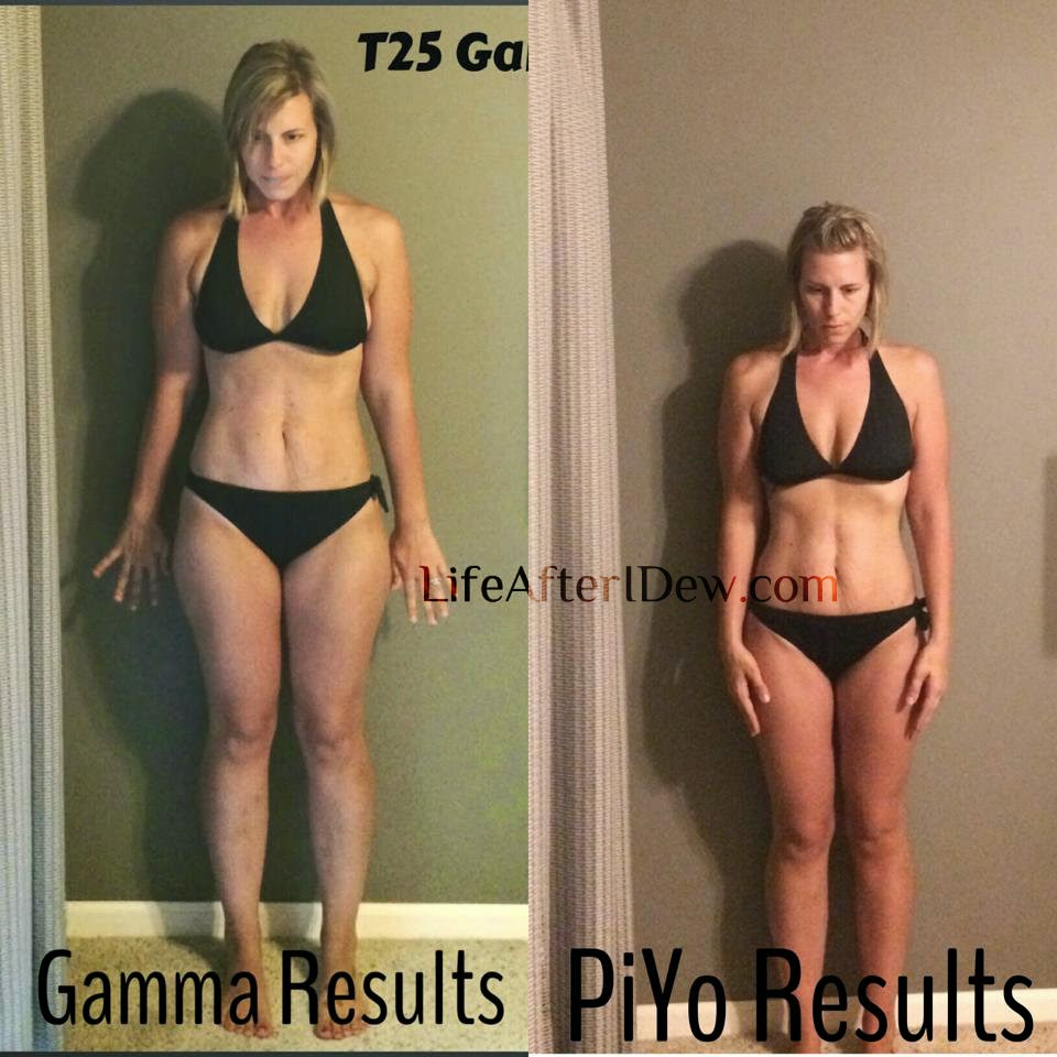 This was after I finished gamma T25 and then PiYo ...