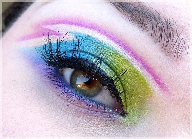 knalliges Augen Make Up