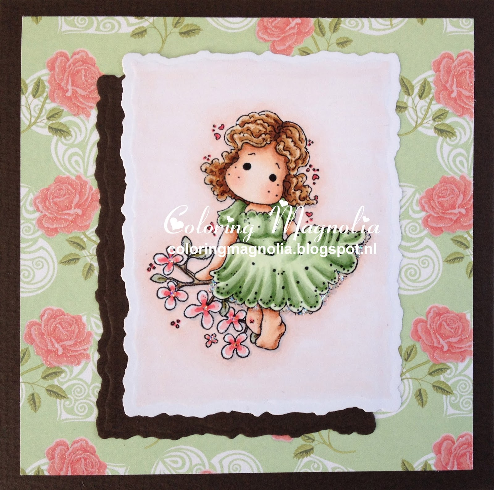 Coloring Magnolia Stamp 2013 Special Moments Collection - Delightfull Tilda - 2011 Sweet Rainbow Collection - Magnolia Branch
