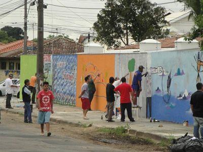 Arte urbana, união, liberdade, inclusão