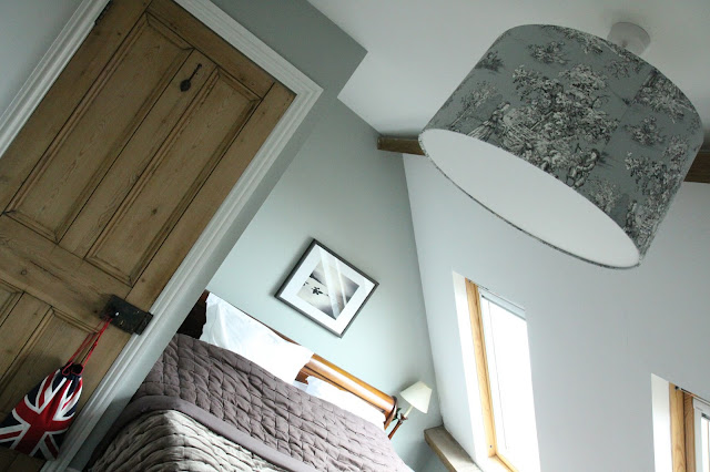Our attic bedroom in our loft conversion