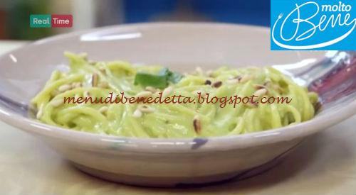 Spaghetti al pesto di avocado ricetta Parodi per Molto Bene