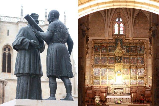 Exterior e interior de la Real Colegiata de San Isidoro en Leon