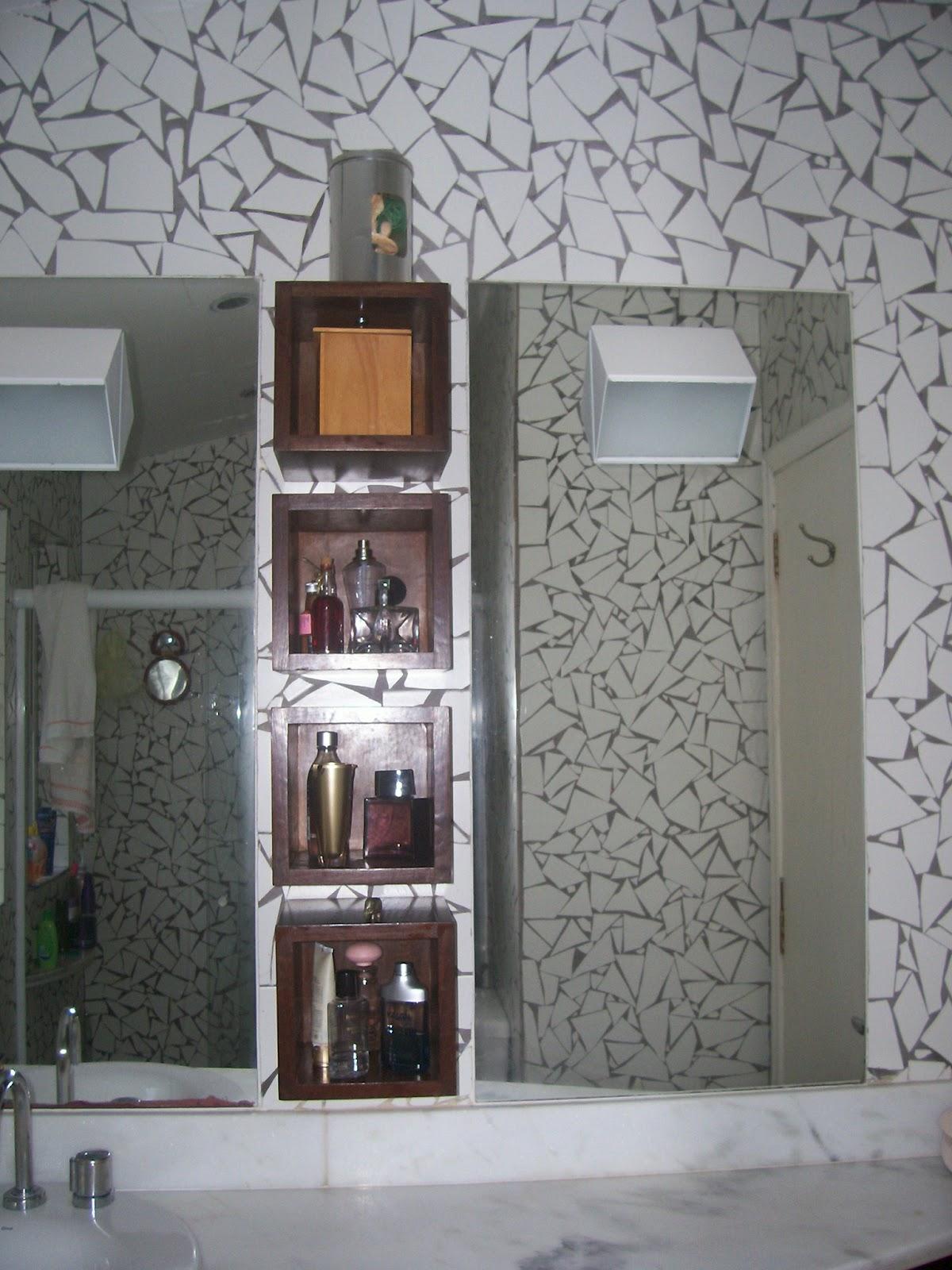 Nichos de madeira é mais durável para o banheiro e super práticos  #76614C 1200x1600 Acessórios Banheiro Madeira