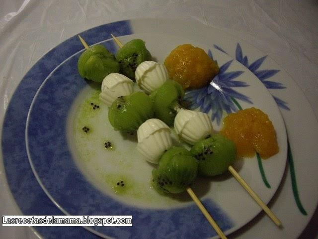 Las recetas de la mam receta de brochetas de kiwi con - Superchef cf100 ...