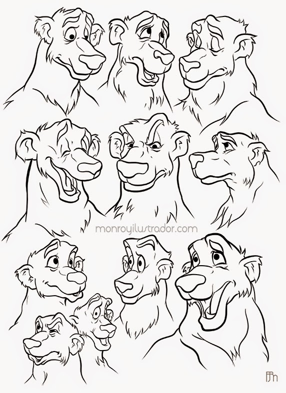 Character design (Expressions) Ink